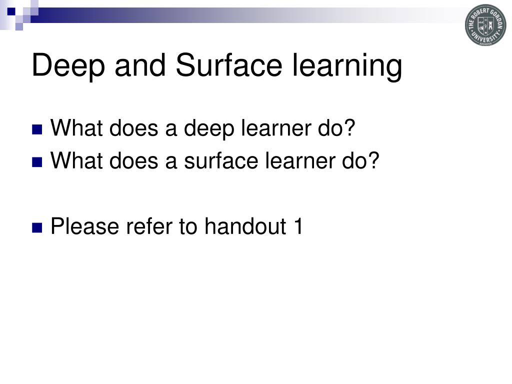 Deep and Surface learning