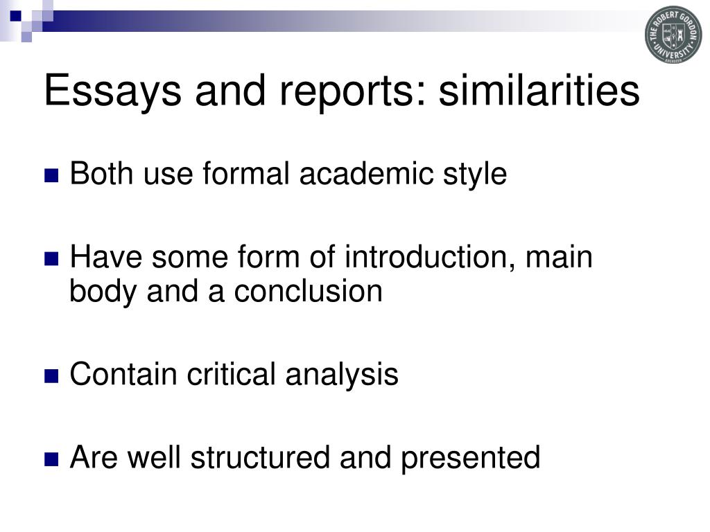 Essays and reports: similarities