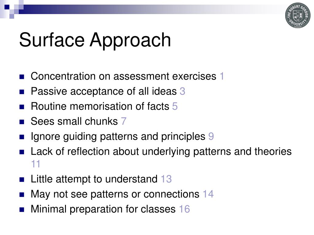 Surface Approach