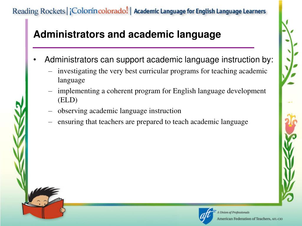 Administrators and academic language