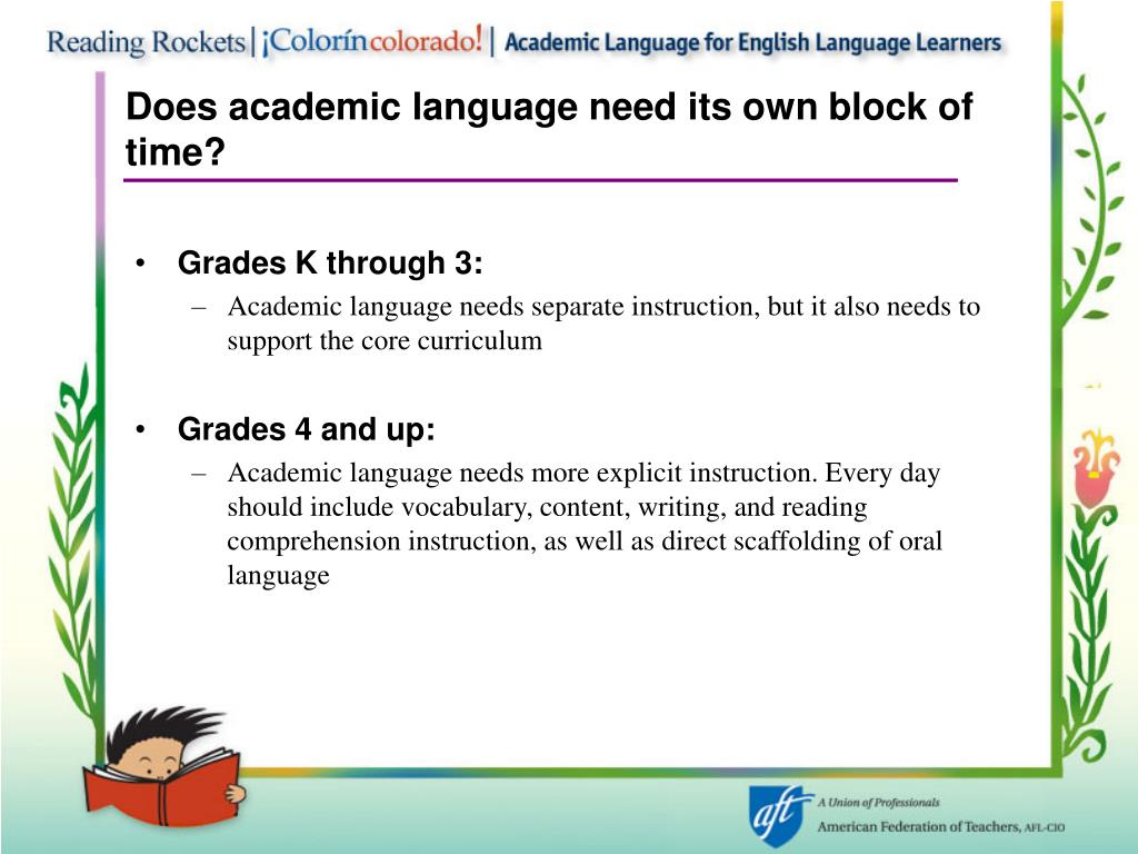 Does academic language need its own block of time?