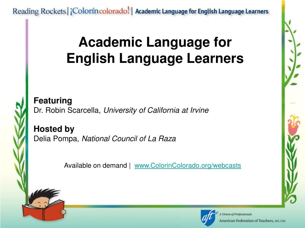 Academic Language for