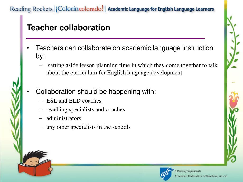 Teacher collaboration