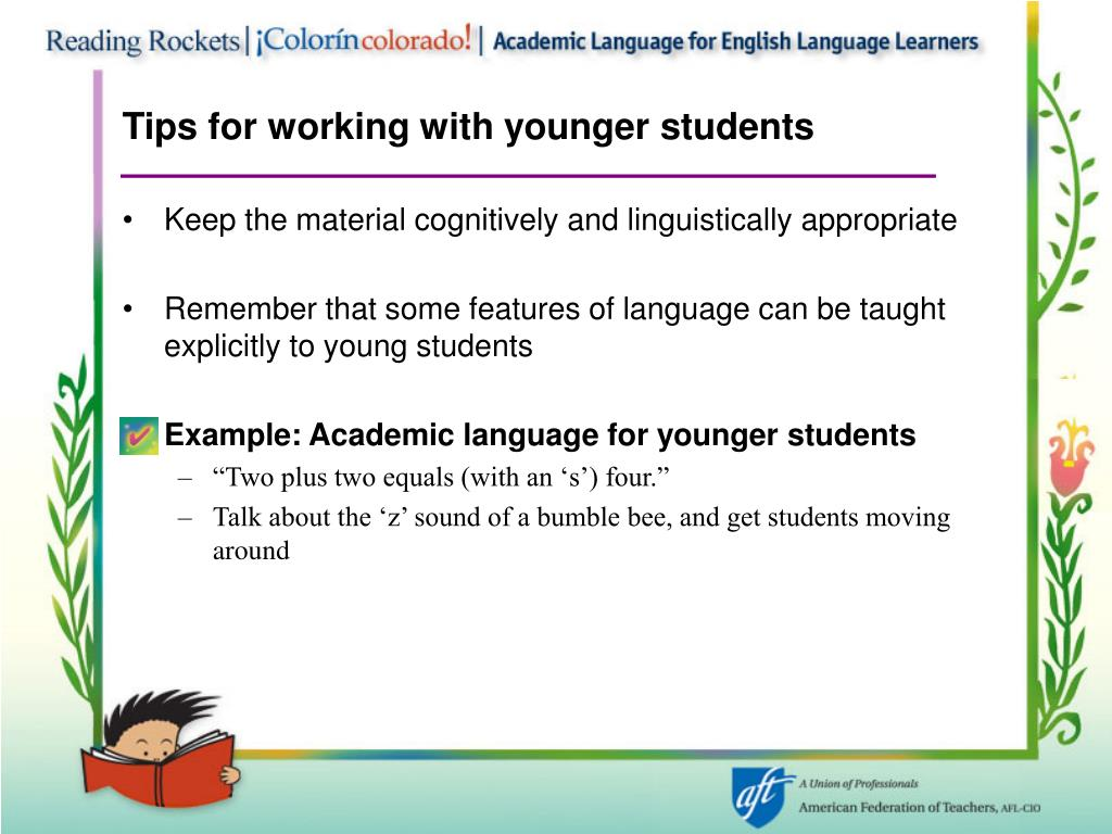 Tips for working with younger students