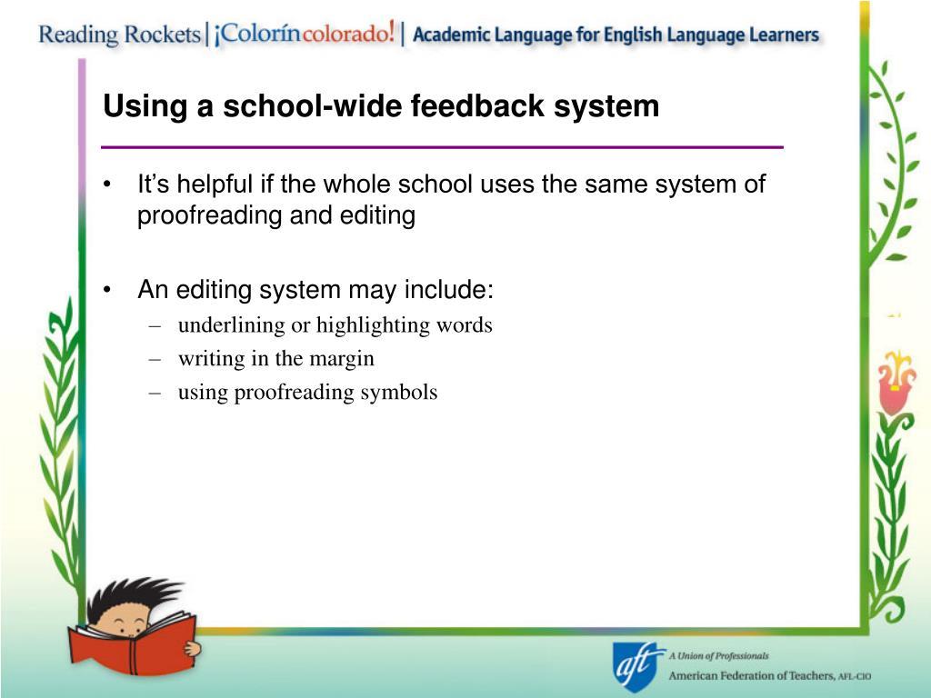 Using a school-wide feedback system