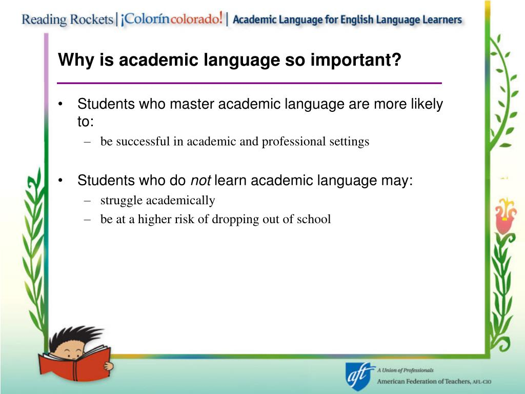 Why is academic language so important?