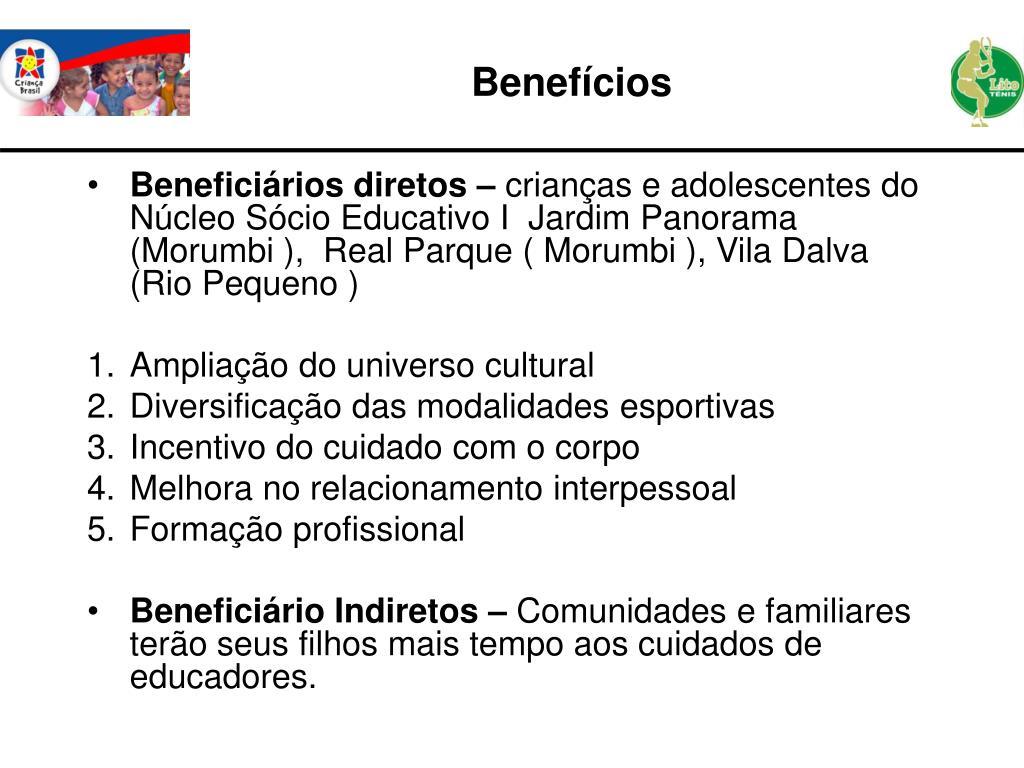 Beneficiários diretos –