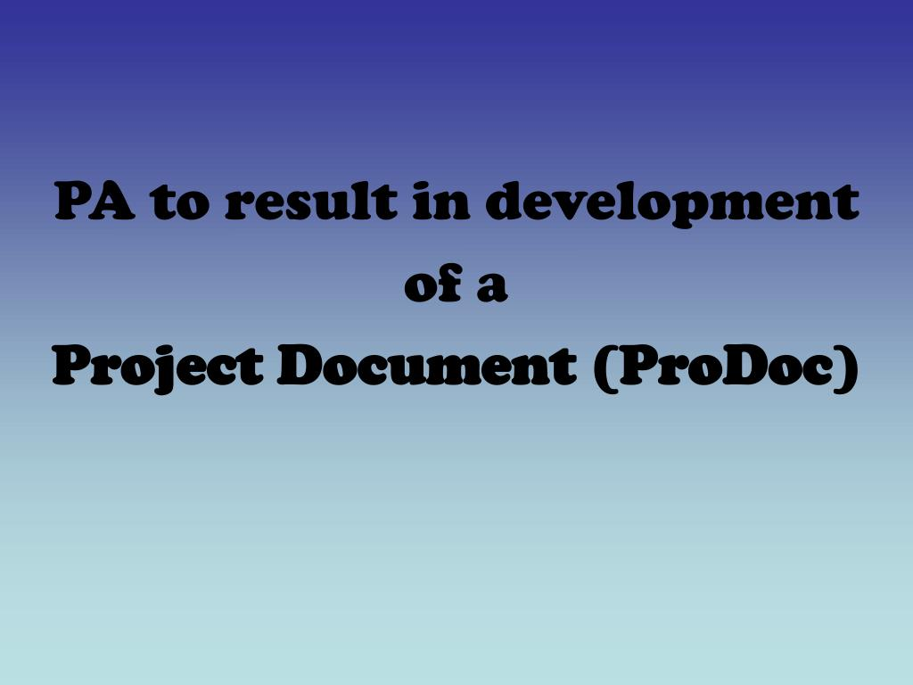 PA to result in development
