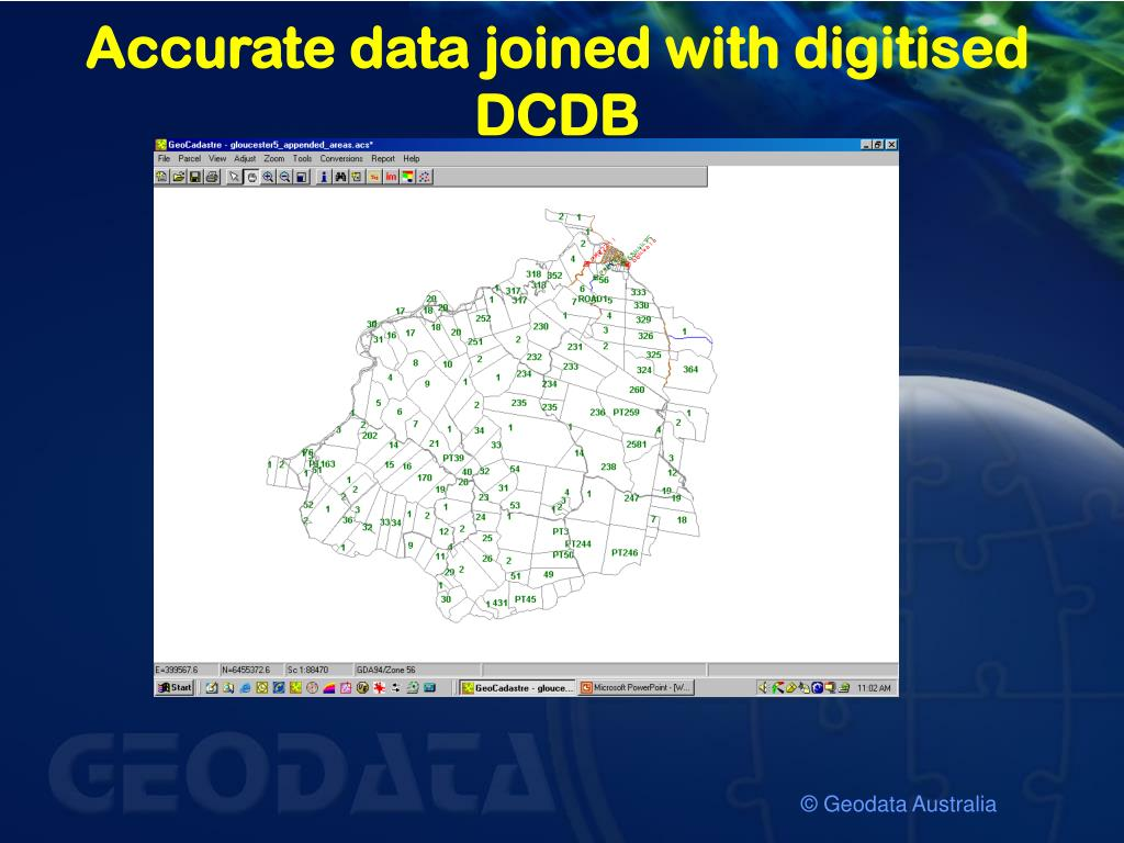 Accurate data joined with digitised DCDB