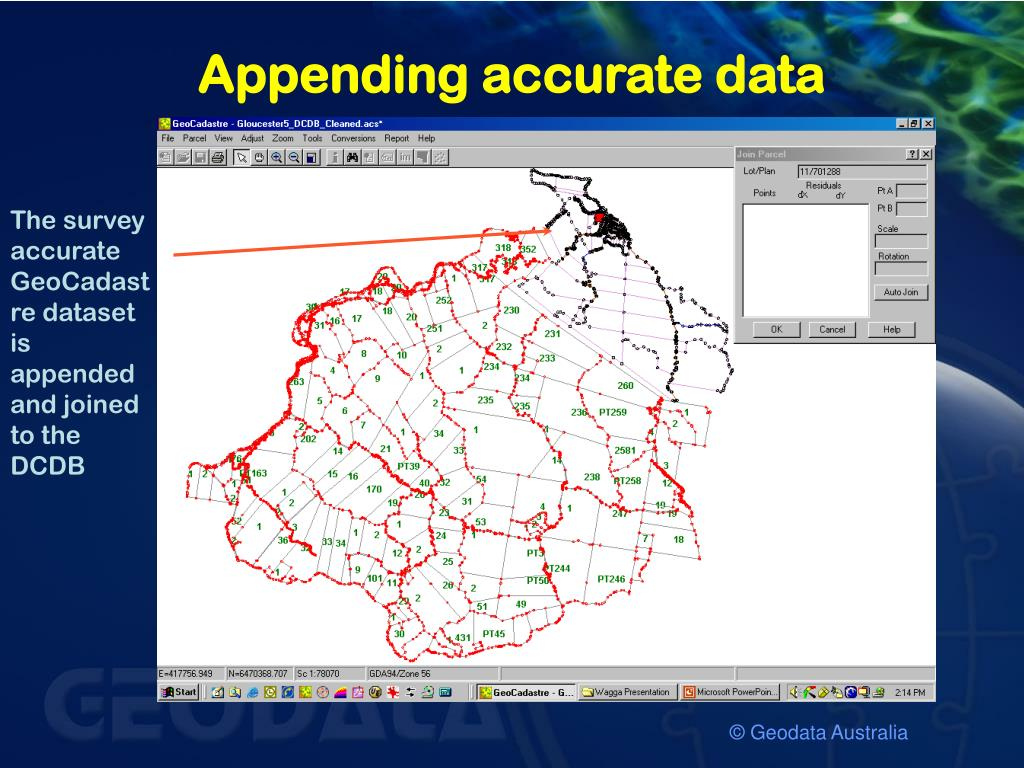 Appending accurate data