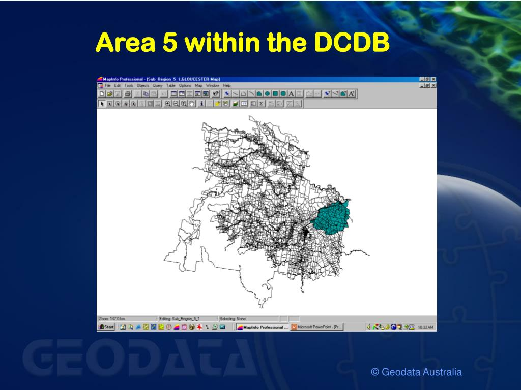 Area 5 within the DCDB