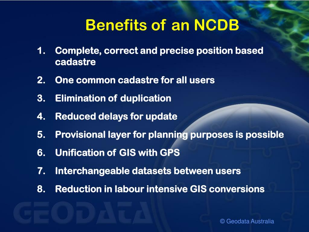 Benefits of an NCDB