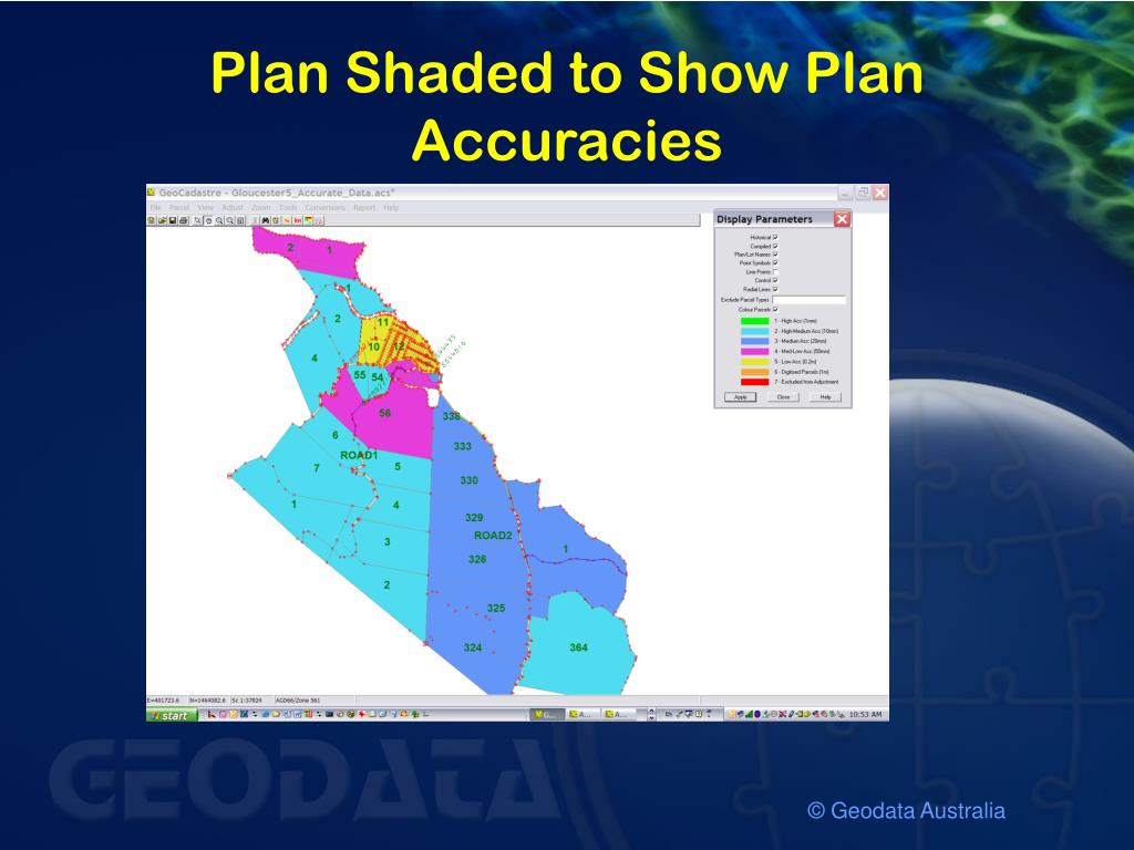 Plan Shaded to Show Plan Accuracies