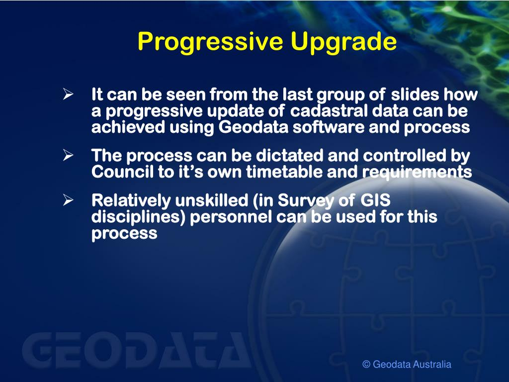 Progressive Upgrade