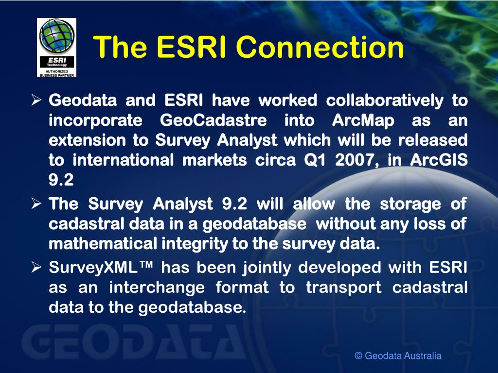 The ESRI Connection
