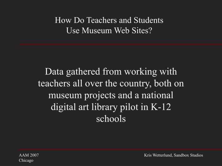 How do teachers and students use museum web sites