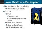 loan death of a participant
