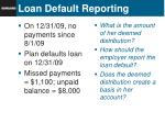 loan default reporting