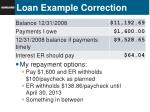 loan example correction