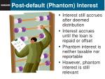 post default phantom interest