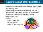 regulation z and participant loans