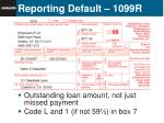 reporting default 1099r