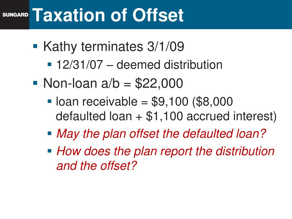 Taxation of Offset