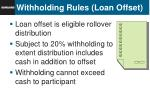 withholding rules loan offset