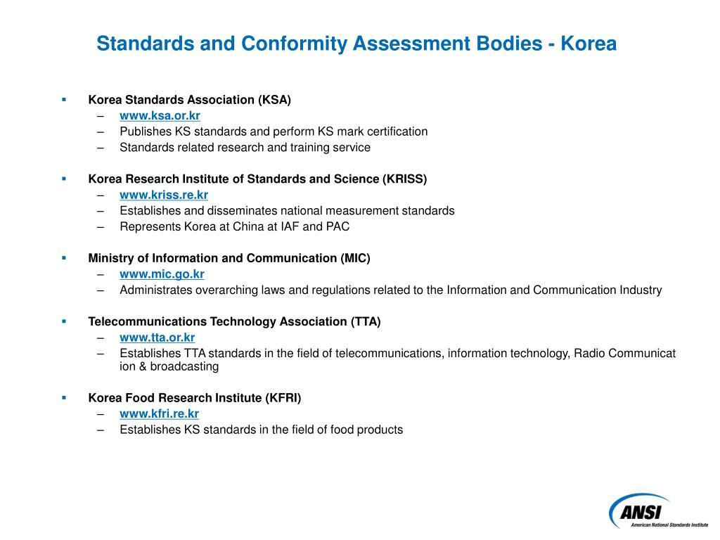 Korea Standards Association (KSA)