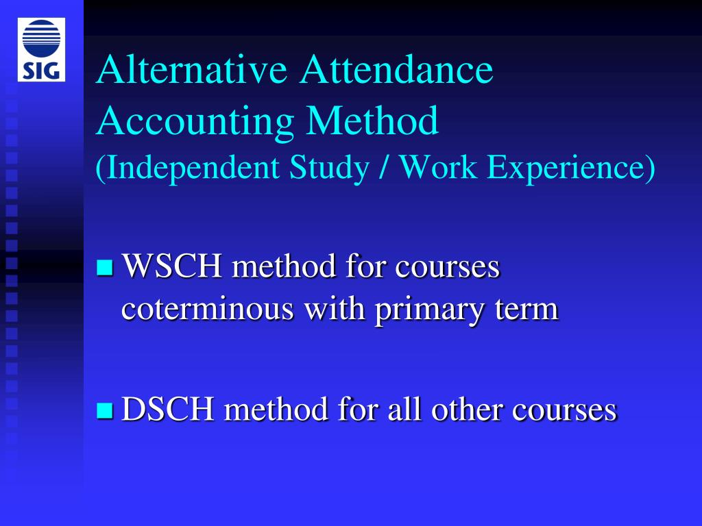 Alternative Attendance Accounting Method