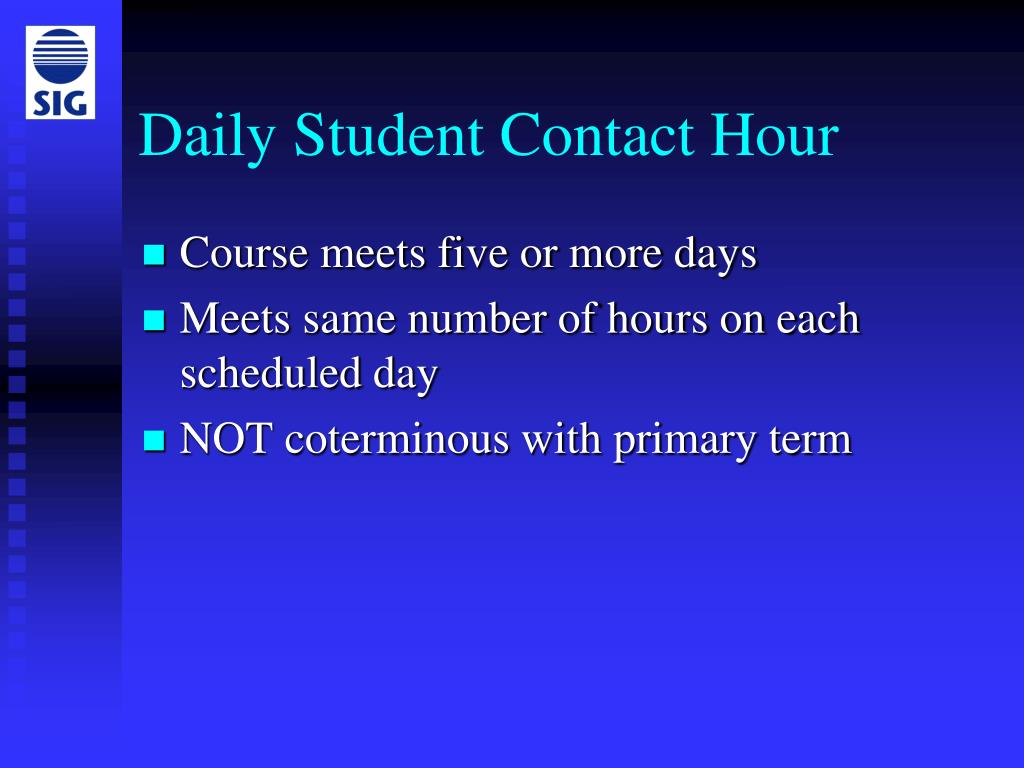 Daily Student Contact Hour