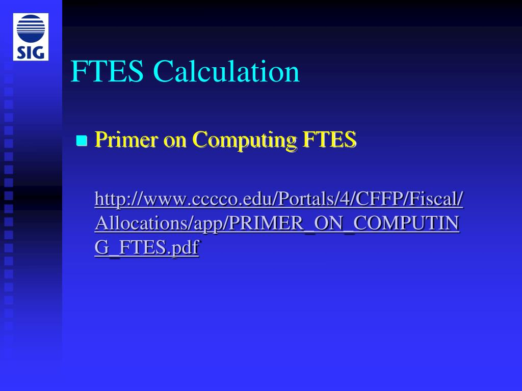 FTES Calculation