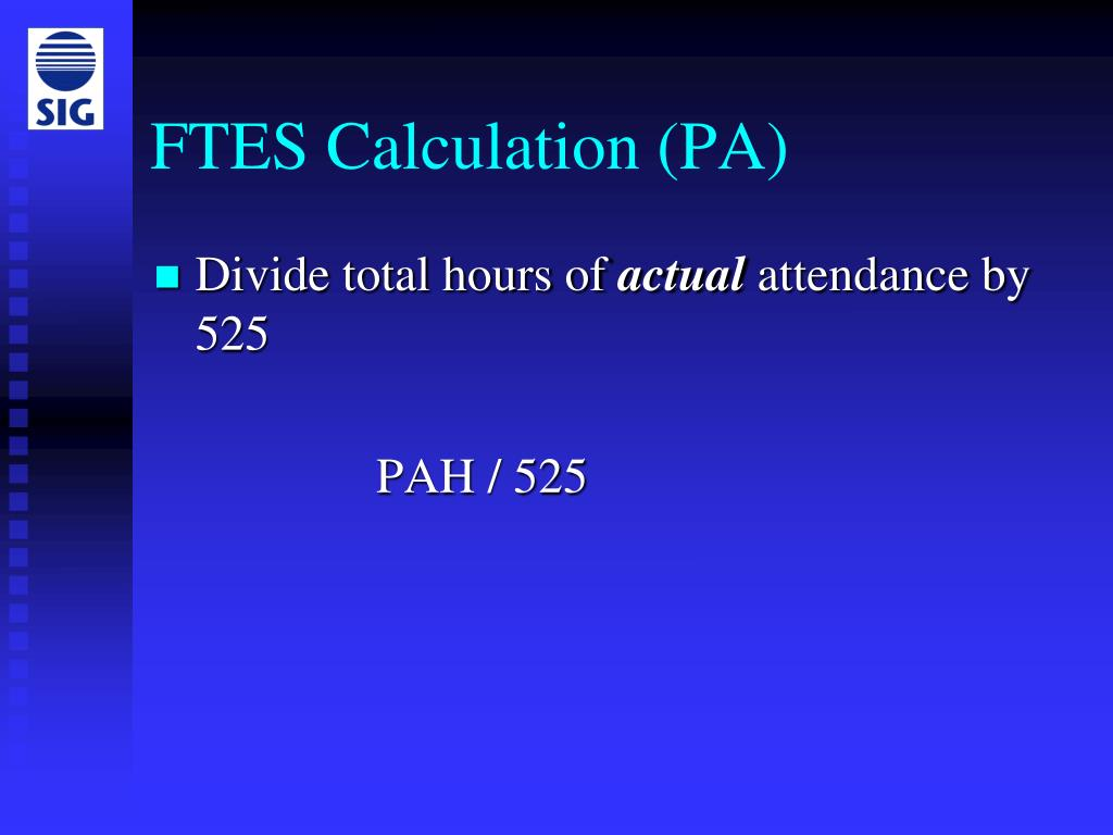 FTES Calculation (PA)