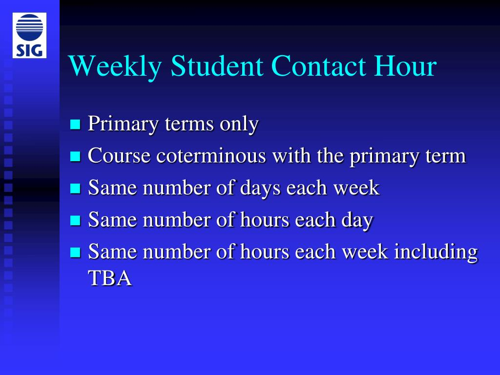 Weekly Student Contact Hour