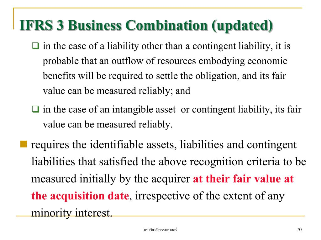 IFRS 3 Business Combination (updated)