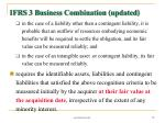 ifrs 3 business combination updated70