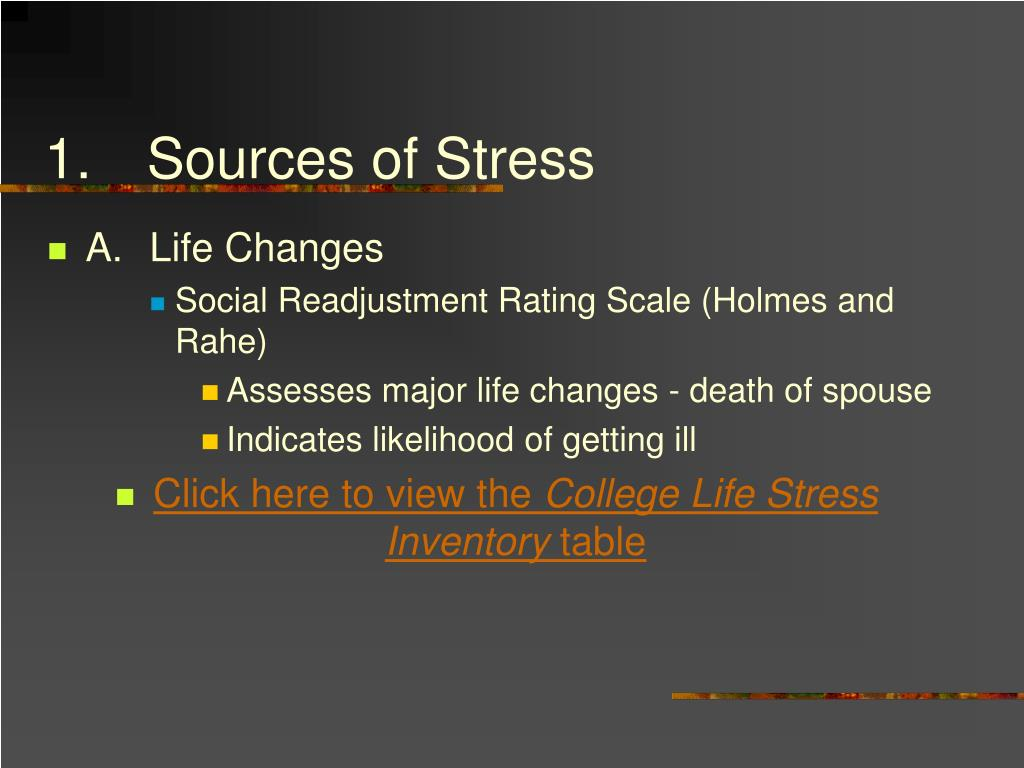 1.Sources of Stress