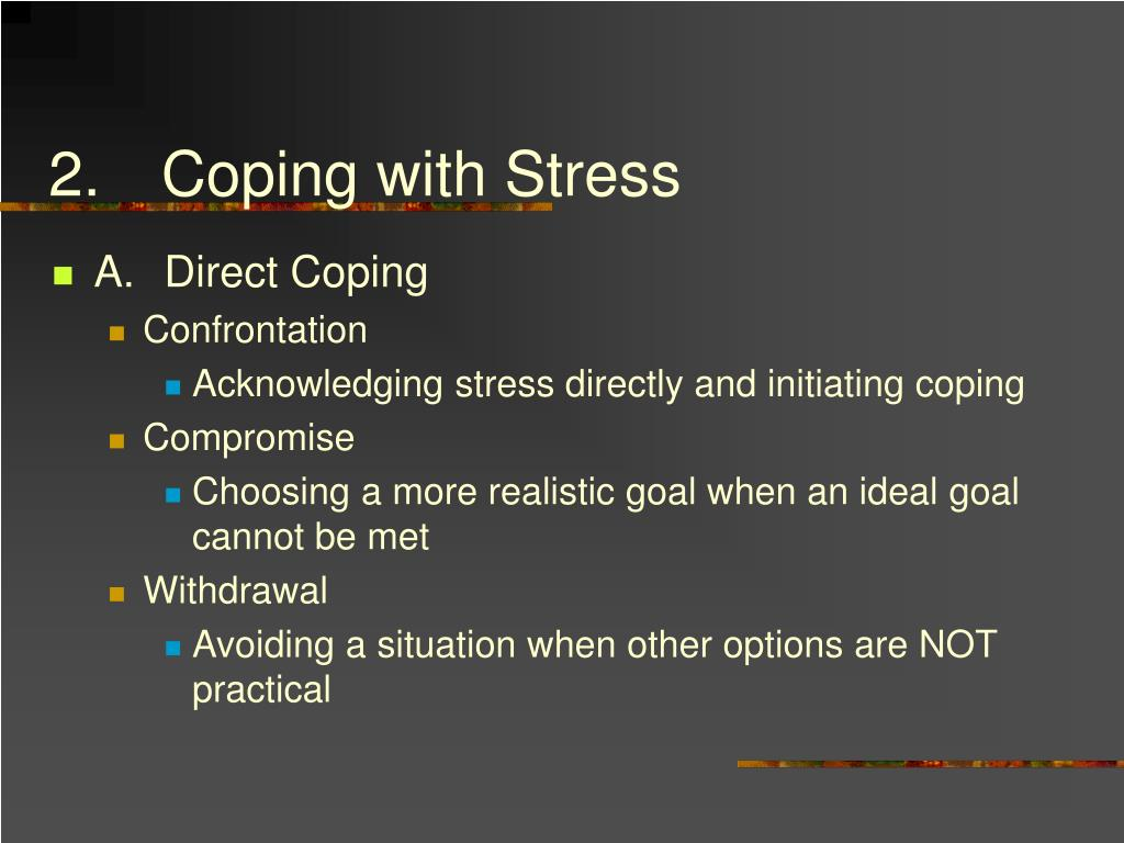 2.Coping with Stress