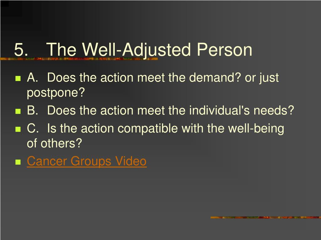 5.The Well-Adjusted Person