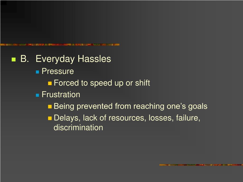 B.Everyday Hassles