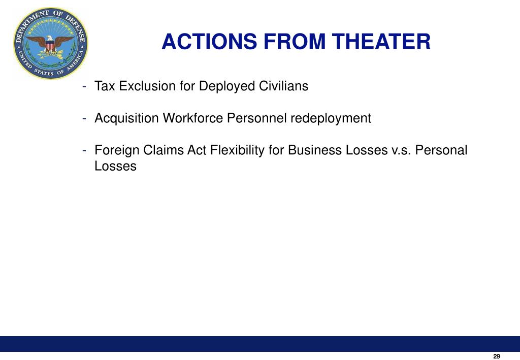 ACTIONS FROM THEATER
