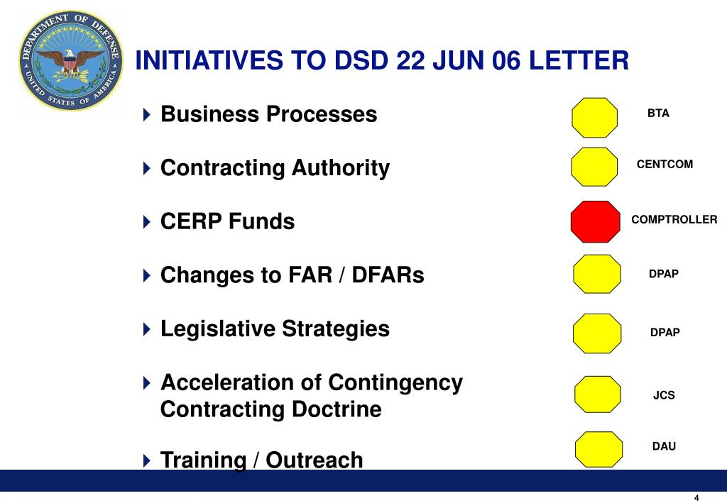 INITIATIVES TO DSD 22 JUN 06 LETTER