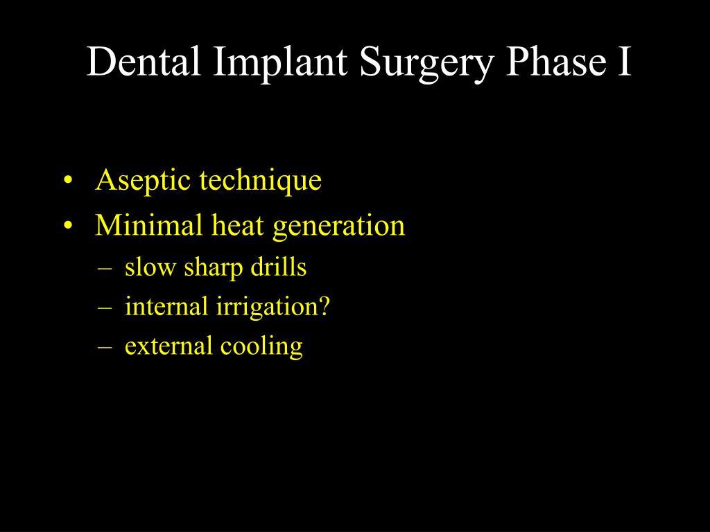 Dental Implant Surgery Phase I