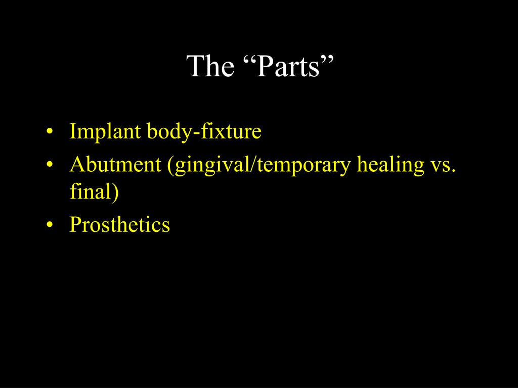"""The """"Parts"""""""