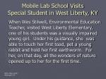 mobile lab school visits special student in west liberty ky