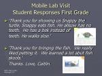 mobile lab visit student responses first grade
