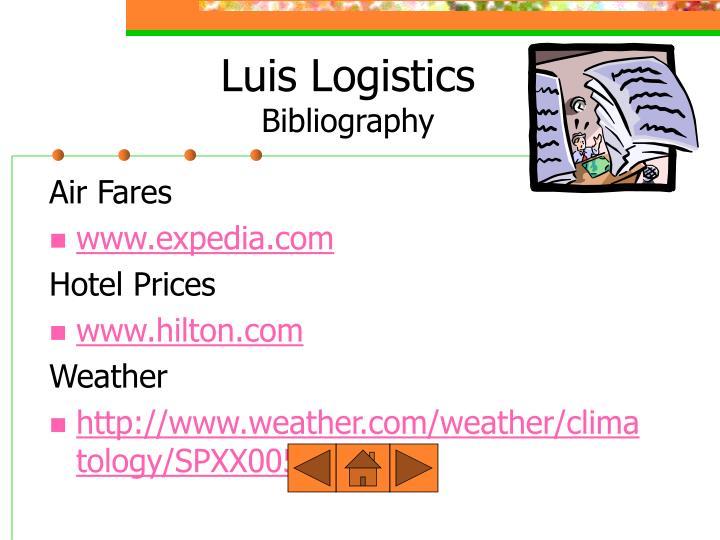 Luis Logistics