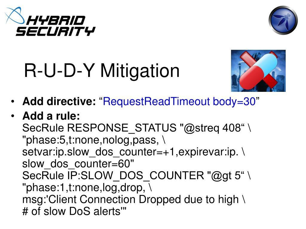 R-U-D-Y Mitigation