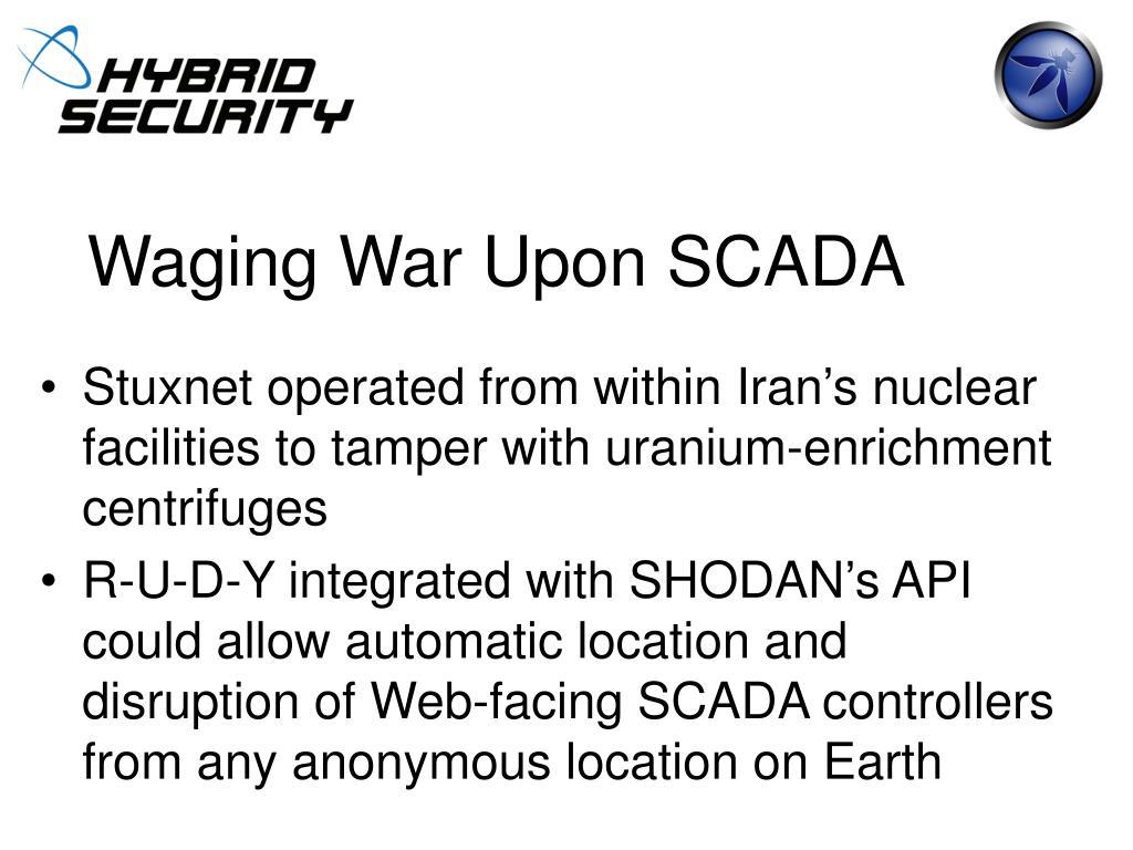 Waging War Upon SCADA