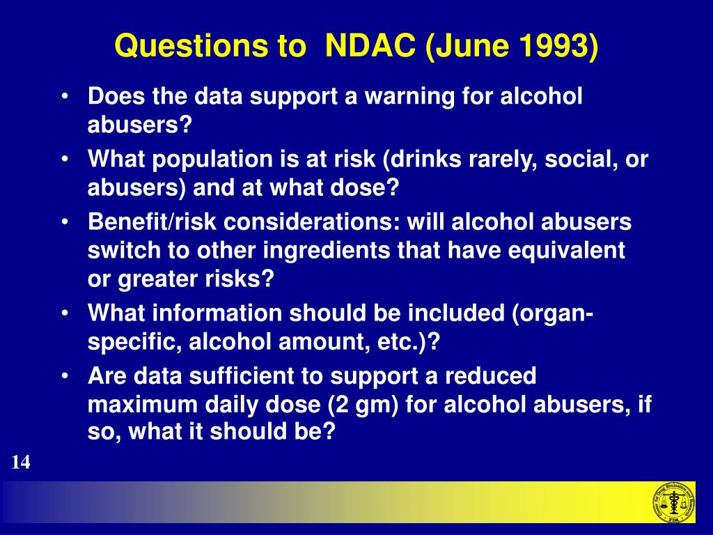 Questions to  NDAC (June 1993)